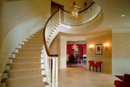curved staircase in CT