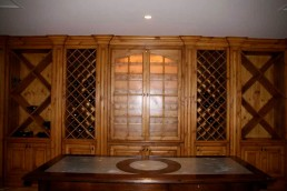 custom oak wine cellar remodeling CT