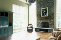 living room stone fireplace remodeling CT
