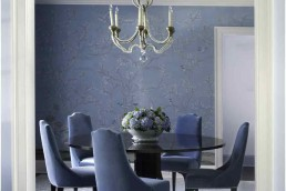 purple dining room remodeling in CT